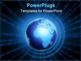 PowerPoint template displaying a glowing globe in the background.