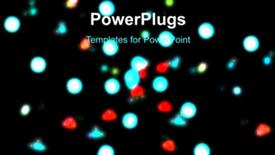 PowerPoint template displaying glowing lights background