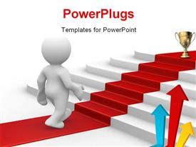 PowerPoint template displaying you are on the right way for success in the background.