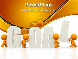 People around the word goal powerpoint template