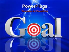 PowerPoint template displaying chrome letters spelling the word Goal