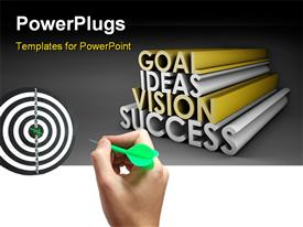Vision Success From Goal and Idea in 3D  classy powerpoint template