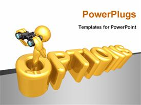 PowerPoint template displaying concept And Presentation Character In 3D