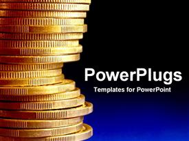 PowerPoint template displaying goldStack414