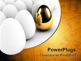 Golden egg concept out of the crowd template for powerpoint