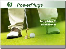 Man playing golf powerpoint design layout
