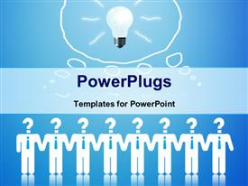 PowerPoint template displaying lamp is lit the talent and ingenuity of business competition in the background.