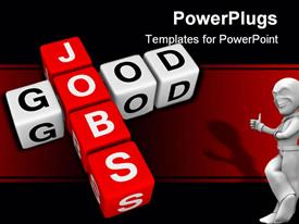Good jobs (by 3D cubes crossword series) template for powerpoint