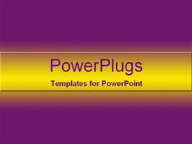 PowerPoint template displaying plane solid beep purple background with yellowinsh center hue