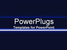 PowerPoint template displaying black background and a blue flat line