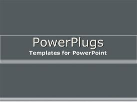 PowerPoint template displaying light and dark grey gradient