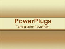 PowerPoint template displaying from light to dark sand tones in the background.