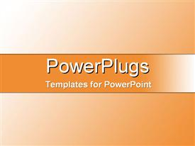 PowerPoint template displaying from light to dark sun-set orange gradient