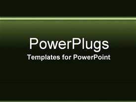 PowerPoint template displaying light green lines on dark green