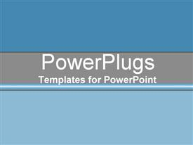 PowerPoint template displaying sky-blue and grey gradient in the background.