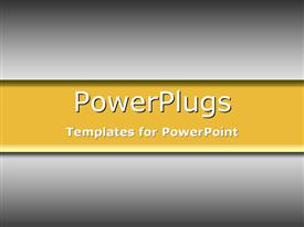 PowerPoint template displaying warm yellow and grey gradient