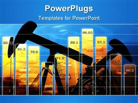 PowerPoint template displaying abstract diagram of a graph showing lines and figures