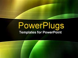 PowerPoint template displaying abstract wedges