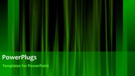 PowerPoint template displaying green curtain background