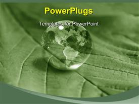 PowerPoint template displaying green earth