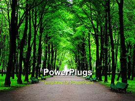 Green park, forest background, St Petersburg, Russia powerpoint theme