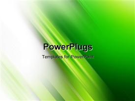 Green background with blurry green lines - very modern style powerpoint theme