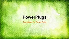 Green watercolor background template for powerpoint