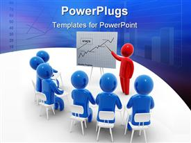 PowerPoint template displaying a beautiful depiction of a meeting room of an organization