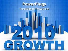 PowerPoint template displaying growth success concept computer generated depiction for special design in the background.