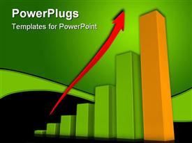 PowerPoint template displaying a growth table with greenish background