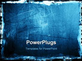 PowerPoint template displaying dark Grunge textured background with border