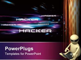 Conceptual illustration on the subject of computer hacking powerpoint template