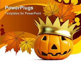 Halloween pumpkin crown powerpoint theme