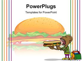 PowerPoint template displaying hamburger