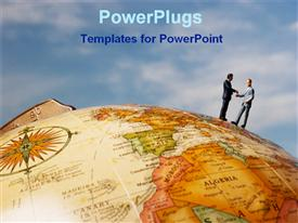 PowerPoint template displaying global business approach