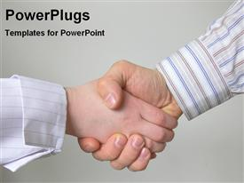 Handshake for business deal powerpoint theme