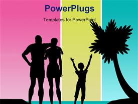 Family tropical beach vacation powerpoint theme