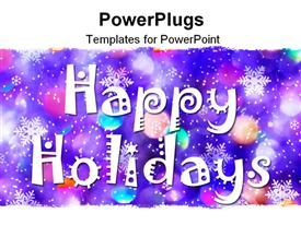 PowerPoint template displaying celebrating the holidays in a colorful way
