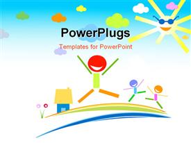 PowerPoint template displaying happy kids in the background.