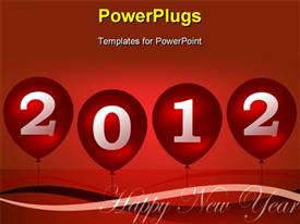 PowerPoint template displaying happy new year
