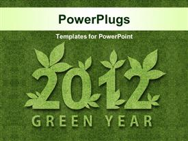 PowerPoint template displaying happy new year 2012 ecology conceptual depiction for 2012 year
