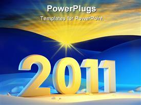 New year 2011 high resolution powerpoint design layout