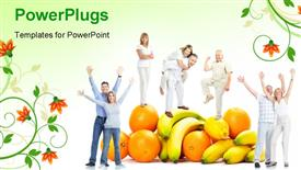 Happy funny people powerpoint design layout