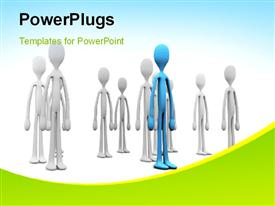 Colored People Stand Out From The Crowd powerpoint design layout