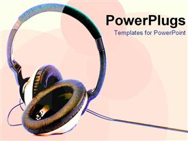 PowerPoint template displaying headphones807 in the background.