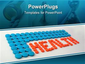 PowerPoint template displaying health written by medicines