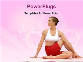 PowerPoint template displaying spinal twist of a lady