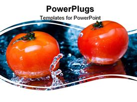 Tomato and splash water template for powerpoint