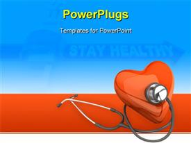 PowerPoint template displaying heart health