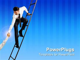 PowerPoint template displaying a professional helping the other one